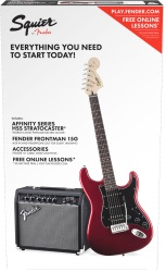 Fender® 030-1814-009 Fender Stop Dreaming Start Playing Guitar Package HSS Strat Candy Apple R