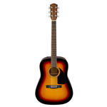 Fender®  CD-60 Steel String Acoustic Guitar w/ Case Starter Pack - Sunburst 097-0110-232