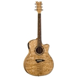 Dean  Exotic Quilt Ash Acoustic/Electric Guitar - Gloss Natural EQA