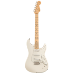 Fender®  EOB Sustainer Stratocaster Electric Guitar w/ Maple Fingerboard - Olympic White 014-0192-305