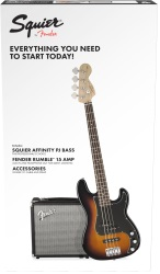 Fender® 030-1972-032 Squier Affinity Series Bass Package PJ Bass w/ Rumble 15